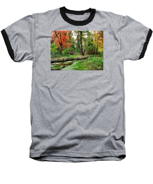 Autumn In Bloom Baseball T-Shirt by Mikki Cucuzzo