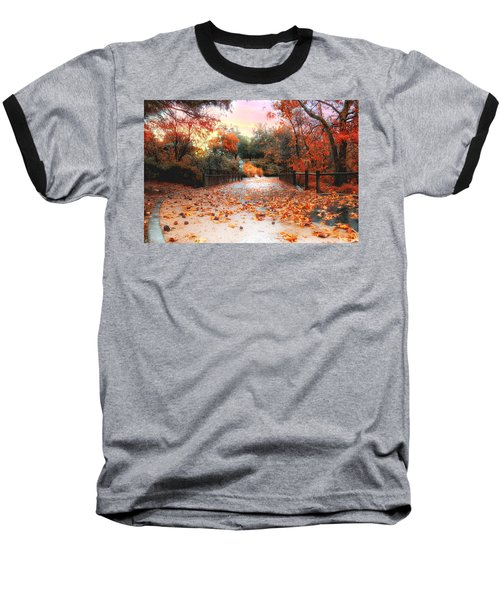 Autumn In Discovery Lake Baseball T-Shirt