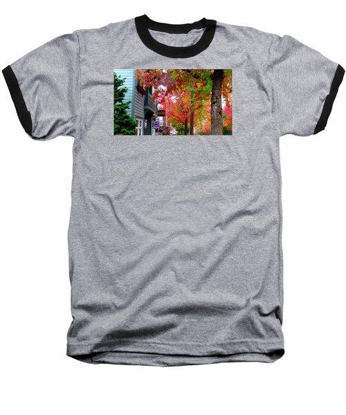 Autumn In Fairhaven Baseball T-Shirt by Karen Molenaar Terrell