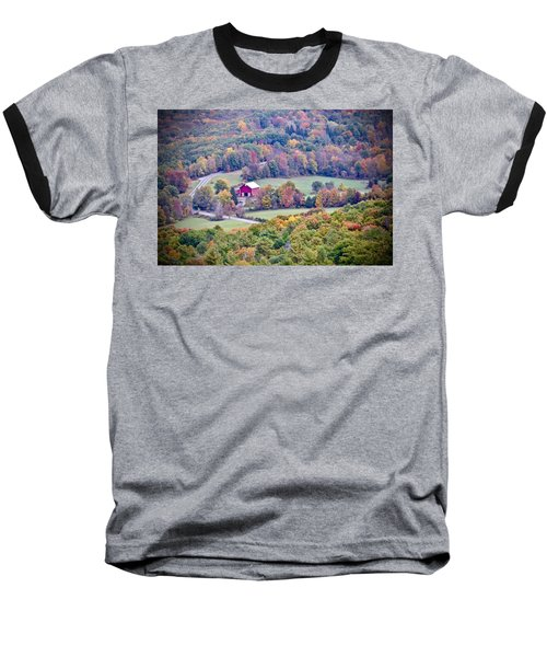 Autumn View, Mohonk Preserve Baseball T-Shirt