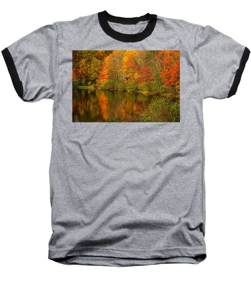 Autumn In Monroe Baseball T-Shirt by Karol Livote