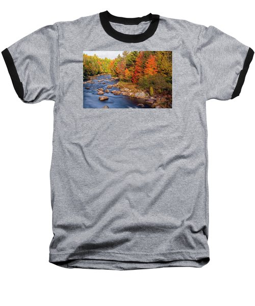 Autumn In New Hampshire Baseball T-Shirt by Betty Denise