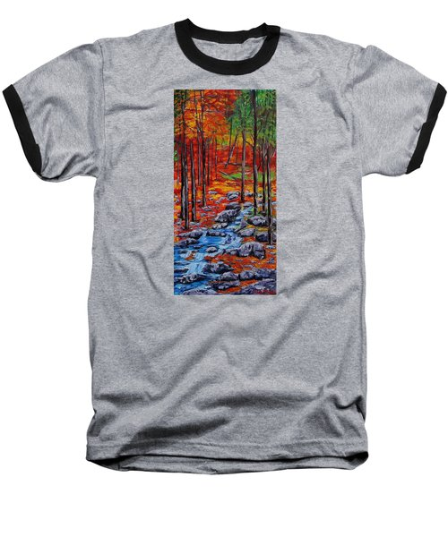 Autumn In The Air 2 Baseball T-Shirt by Mike Caitham