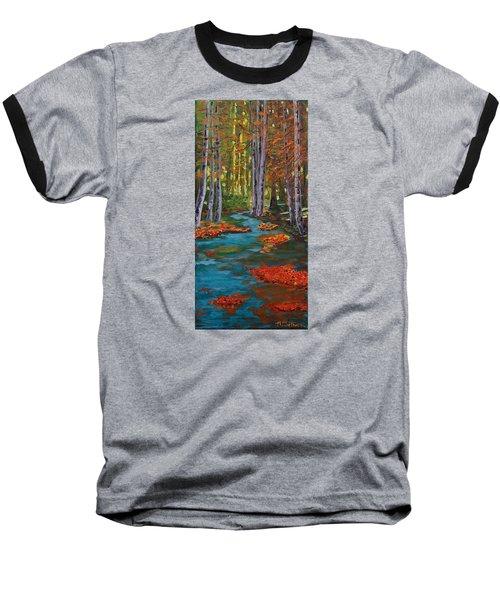 Autumn In The Air Baseball T-Shirt by Mike Caitham