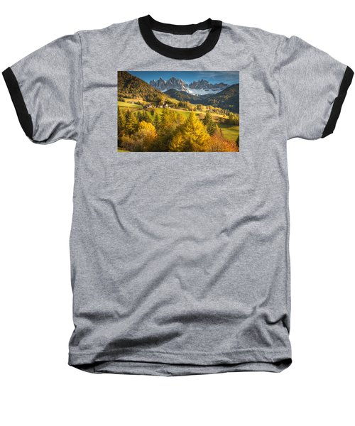 Autumn In The Alps Baseball T-Shirt