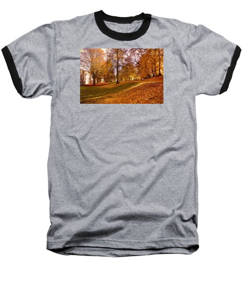 Baseball T-Shirt featuring the photograph Autumn In The City Park Maastricht by Nop Briex