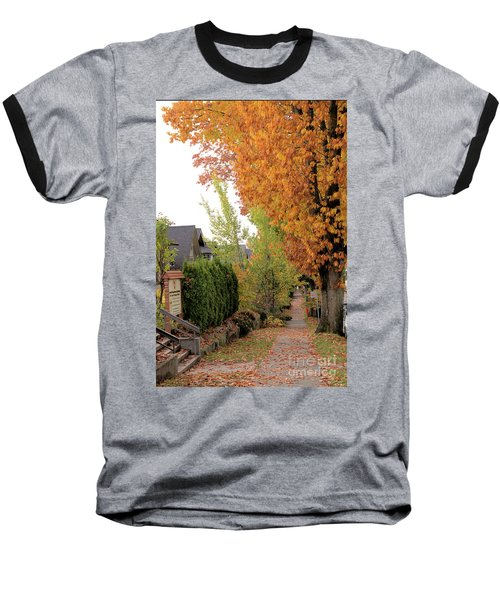 Autumn In The City Baseball T-Shirt