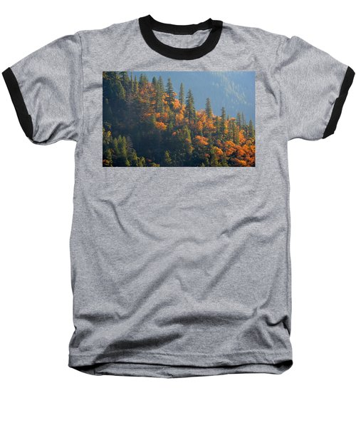 Autumn In The Feather River Canyon Baseball T-Shirt by AJ Schibig