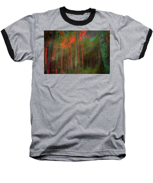 Autumn In The Magic Forest Baseball T-Shirt