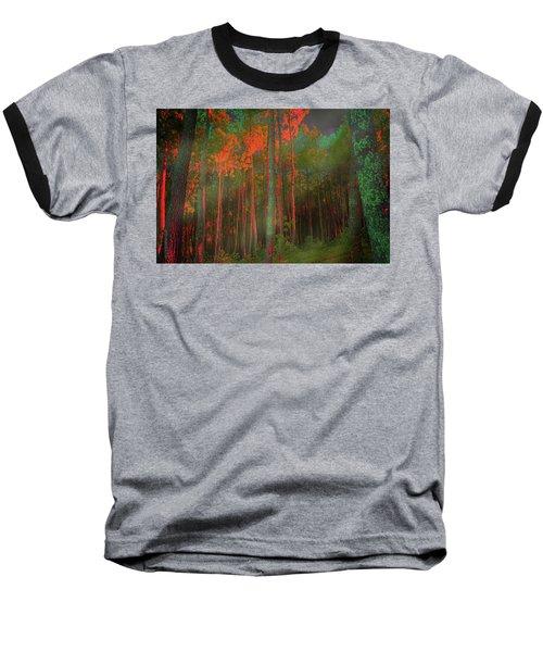 Autumn In The Magic Forest Baseball T-Shirt