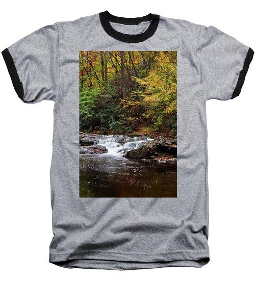 Autumn In The Smokies Baseball T-Shirt by Andrew Soundarajan