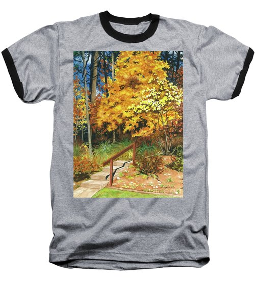Baseball T-Shirt featuring the painting Autumn Invitation by Barbara Jewell