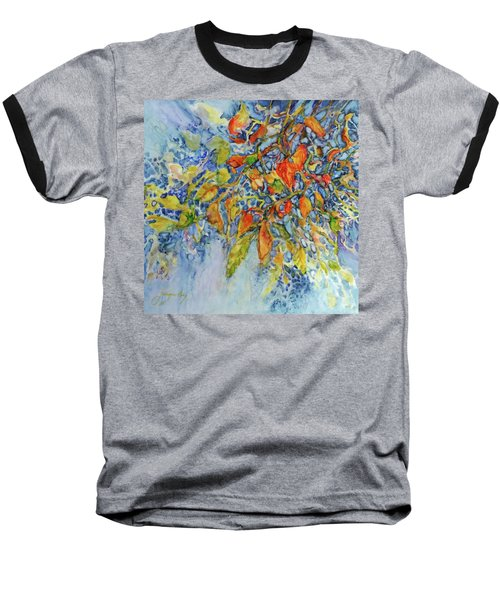 Baseball T-Shirt featuring the painting Autumn Lace by Joanne Smoley