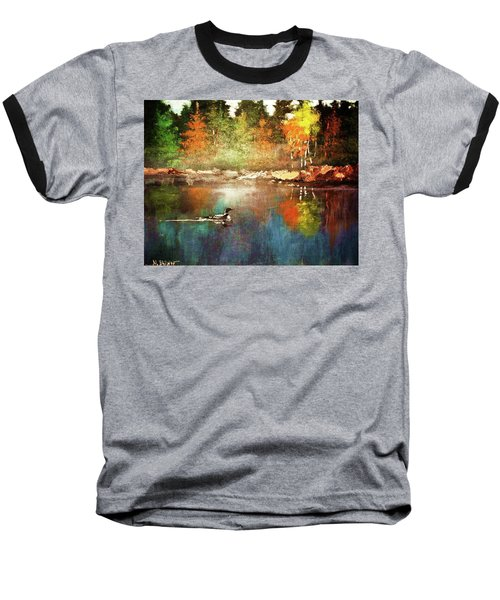 Autumn Lake Reflections Baseball T-Shirt