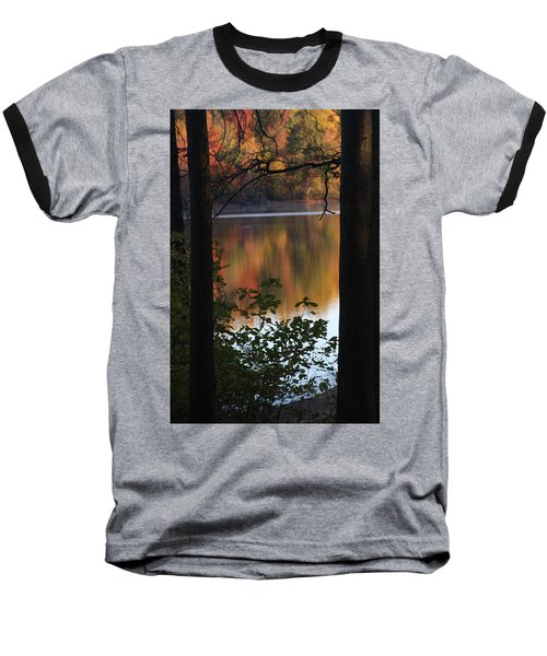 Baseball T-Shirt featuring the photograph Autumn Lake by Vadim Levin