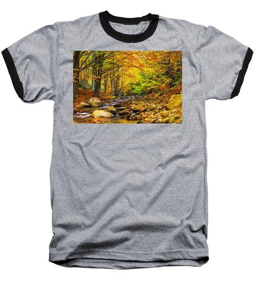 Autumn Landscape Baseball T-Shirt