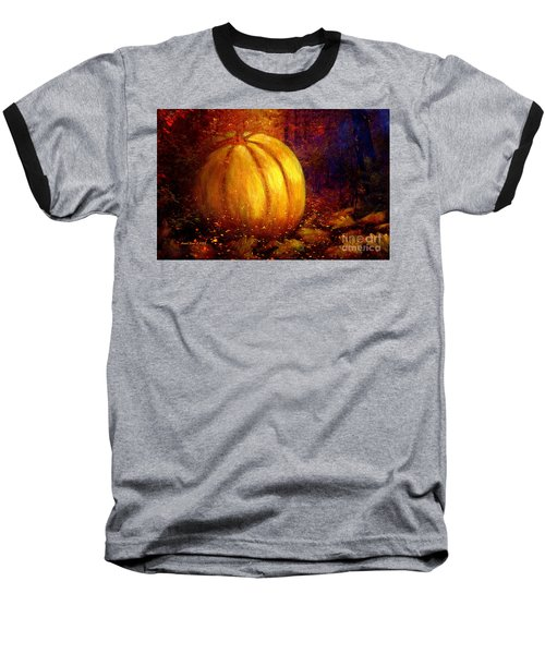 Autumn Landscape Painting Baseball T-Shirt by Annie Zeno