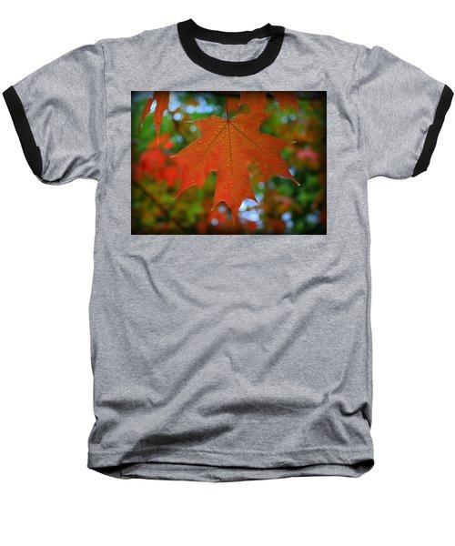 Autumn Leaf In The Rain Baseball T-Shirt