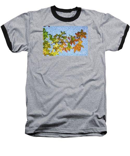 Baseball T-Shirt featuring the photograph Autumn Leaves 2 by Jean Bernard Roussilhe