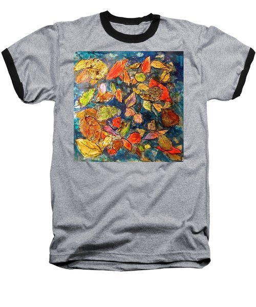Autumn Leaves Baseball T-Shirt by Barbara O'Toole
