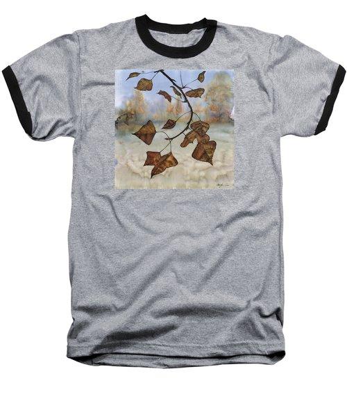 Autumn Leaves Baseball T-Shirt by Carolyn Doe