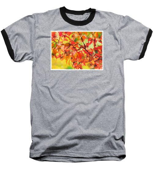 Baseball T-Shirt featuring the digital art Autumn Leaves by Christina Lihani