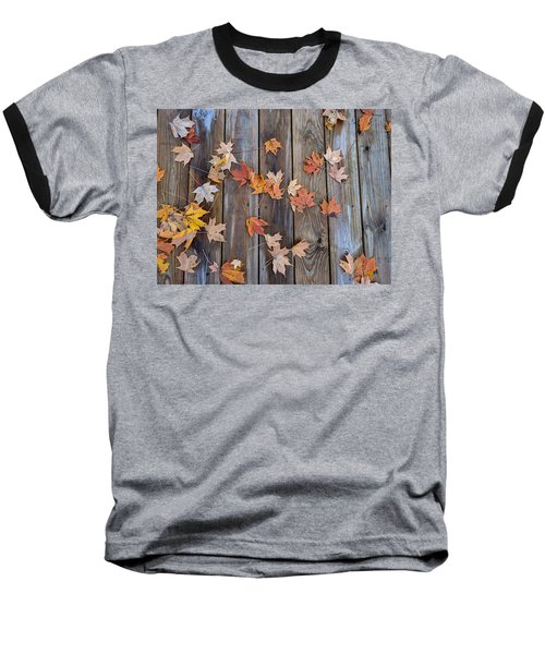 Autumn Leaves Fall Baseball T-Shirt