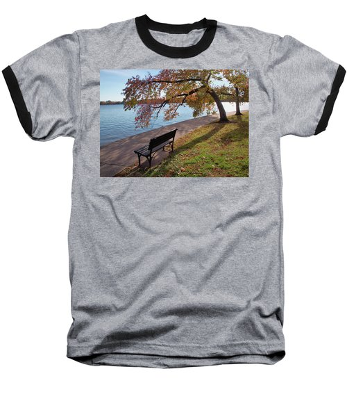 Autumn Leaves In Dc Baseball T-Shirt