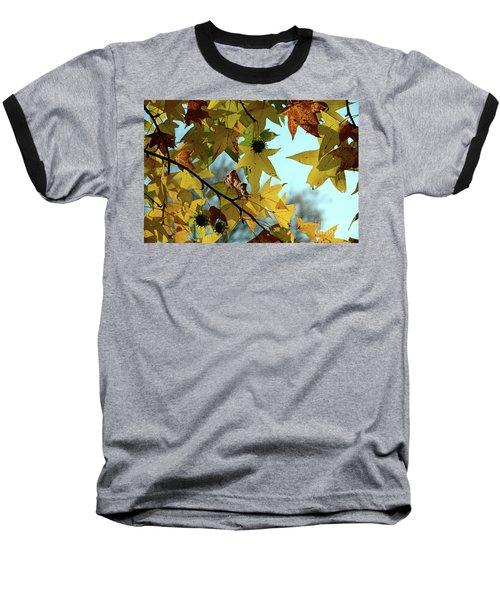 Autumn Leaves Baseball T-Shirt by Joanne Coyle