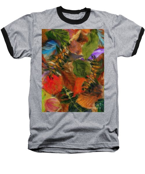 Baseball T-Shirt featuring the digital art Autumn Leaves by Klara Acel