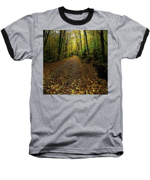 Baseball T-Shirt featuring the photograph Autumn Leaves On The Trail by David Patterson