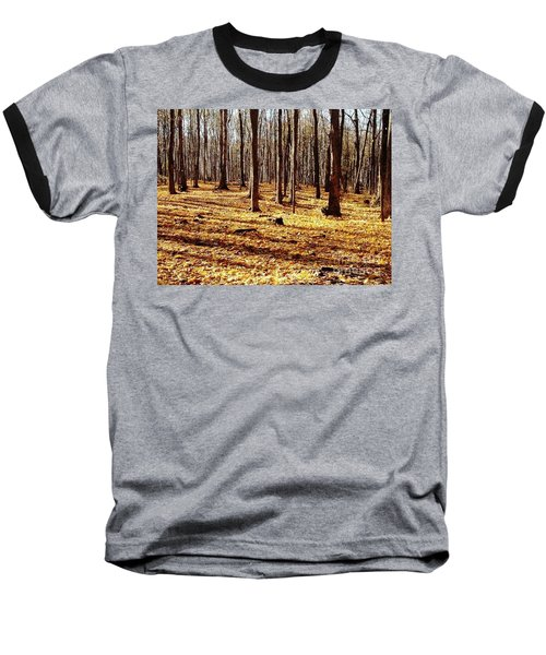 Baseball T-Shirt featuring the photograph Autumn Leaves by Vicky Tarcau