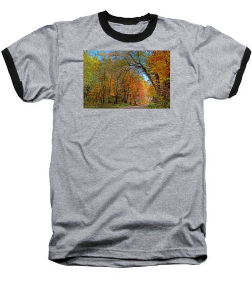 Baseball T-Shirt featuring the photograph Autumn Light by Rodney Campbell