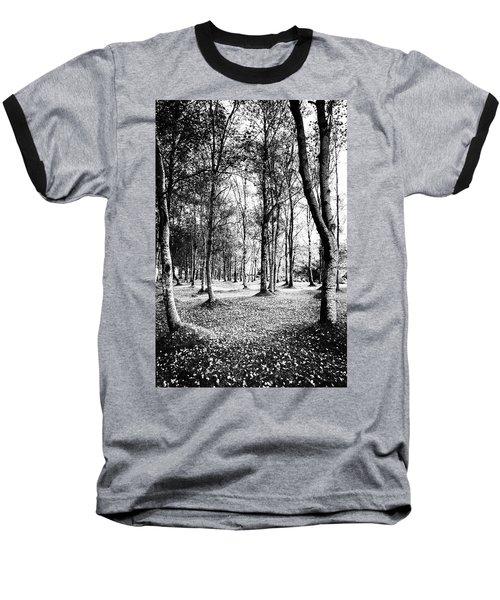 Autumn Lights Baseball T-Shirt by Edgar Laureano