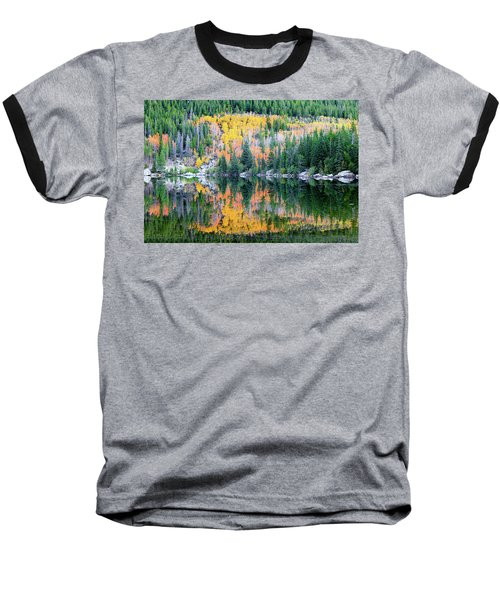 Autumn Mirror At Bear Lake Baseball T-Shirt