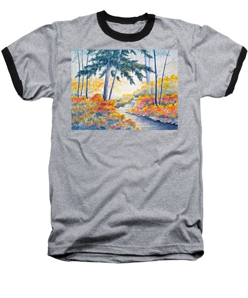Baseball T-Shirt featuring the painting Autumn Mist by Carolyn Rosenberger