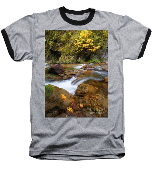 Baseball T-Shirt featuring the photograph Autumn Moment by Mike Dawson