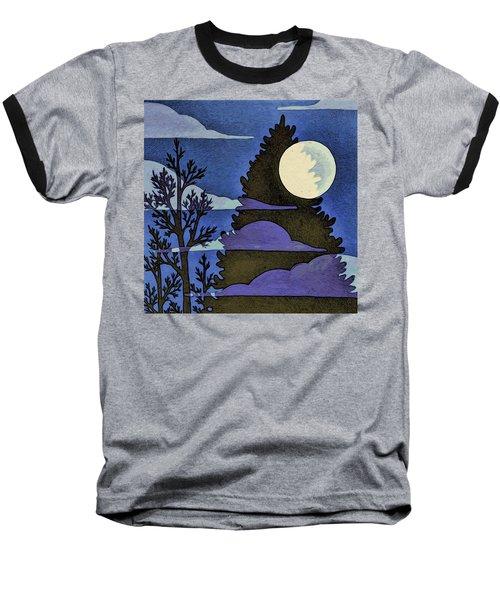 Autumn Moon Baseball T-Shirt
