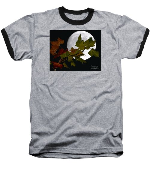 Autumn Moon Baseball T-Shirt