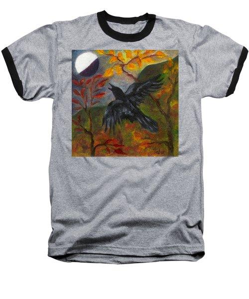 Autumn Moon Raven Baseball T-Shirt