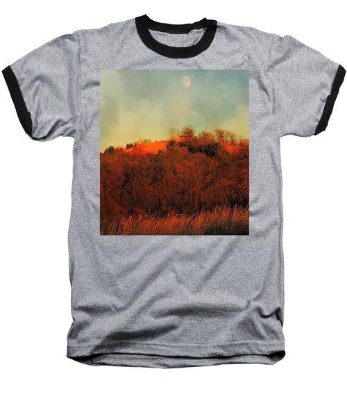 Autumn Moonrise Baseball T-Shirt