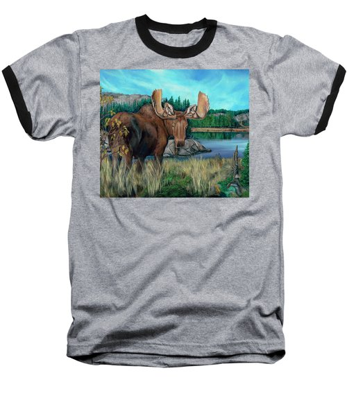 Autumn Moose Baseball T-Shirt