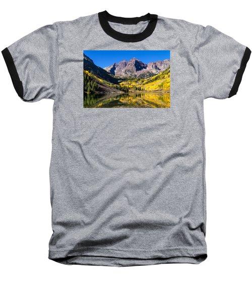 Autumn Morning At The Maroon Bells Baseball T-Shirt by Teri Virbickis