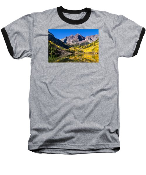 Autumn Morning At The Maroon Bells Baseball T-Shirt