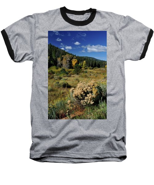 Baseball T-Shirt featuring the photograph Autumn Morning In The Canyon by Ron Cline