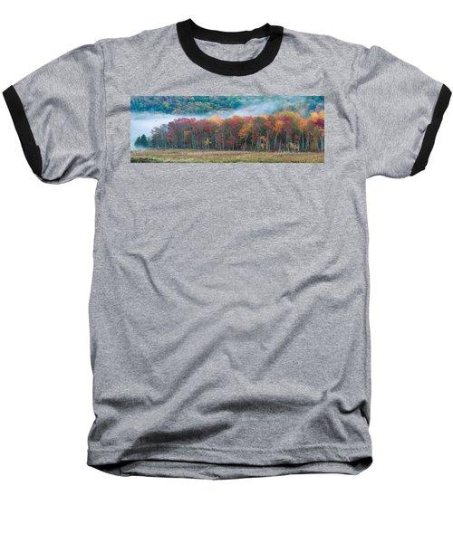 Autumn Morning Mist Baseball T-Shirt by Brian Caldwell