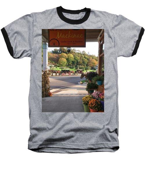 Autumn Morning On Mackinac Island Baseball T-Shirt