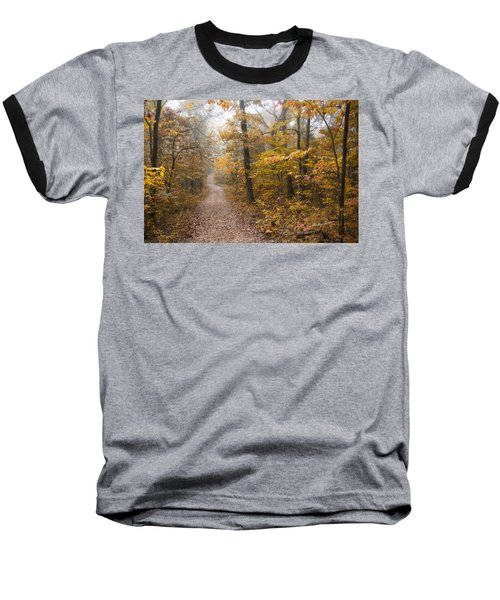 Autumn Morning Baseball T-Shirt by Ricky Dean