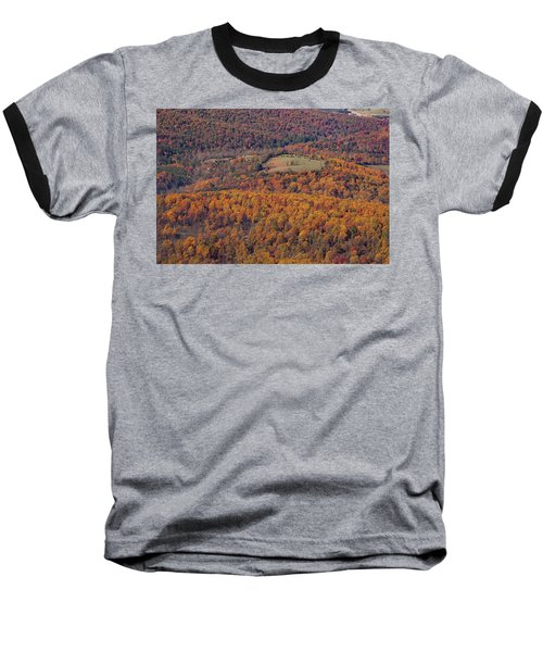 Autumn Mountain Side Baseball T-Shirt