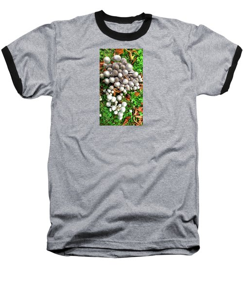 Autumn Mushrooms Baseball T-Shirt by Nareeta Martin